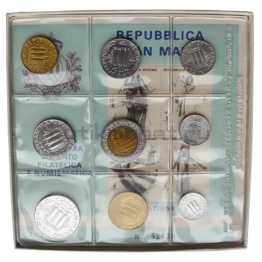 Годовой набор монет 1985 Сан-Марино Борьба с наркотиками (9 штук)