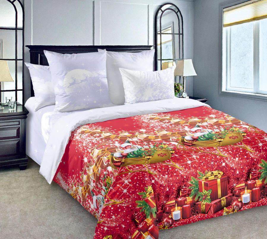 «Новогодние огни 1» постельное белье Перкаль Семейный
