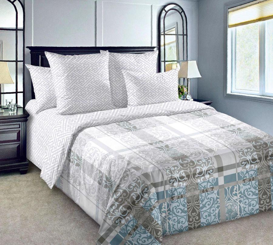«Декор 4» постельное белье Сатин Евро