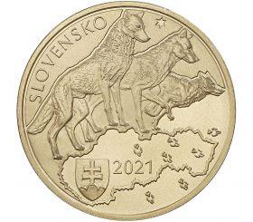 Волк 5 евро Словакия 2021 на заказ