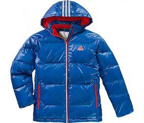 Куртка adidas Yung Boys Junior Light Down Jacket синяя