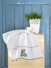 Махровое полотенце BREAKFAST 45*70 (белое) Арт.3203-1