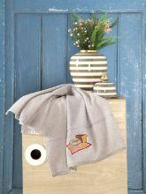 Махровое полотенце BREAKFAST 45*70 (бежевое) Арт.3203-6
