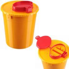 Контейнер-Универсал МК-01 / для сбора и утилизации колюще-режущих отходов / желтый / 3 л