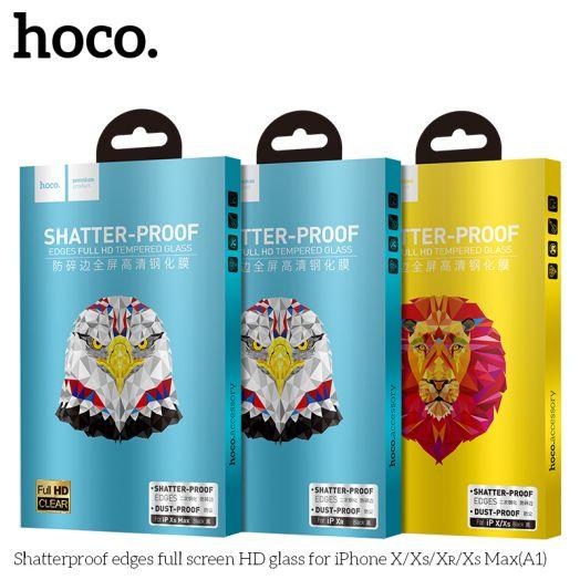 Защитное стекло HOCO Shatterproof edges для iPhoneXR(A1), черное