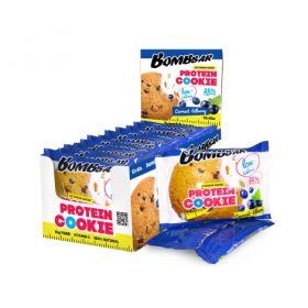 Низкокалорийное протеиновое печенье от Bombbar черная смородина-черника 40 гр