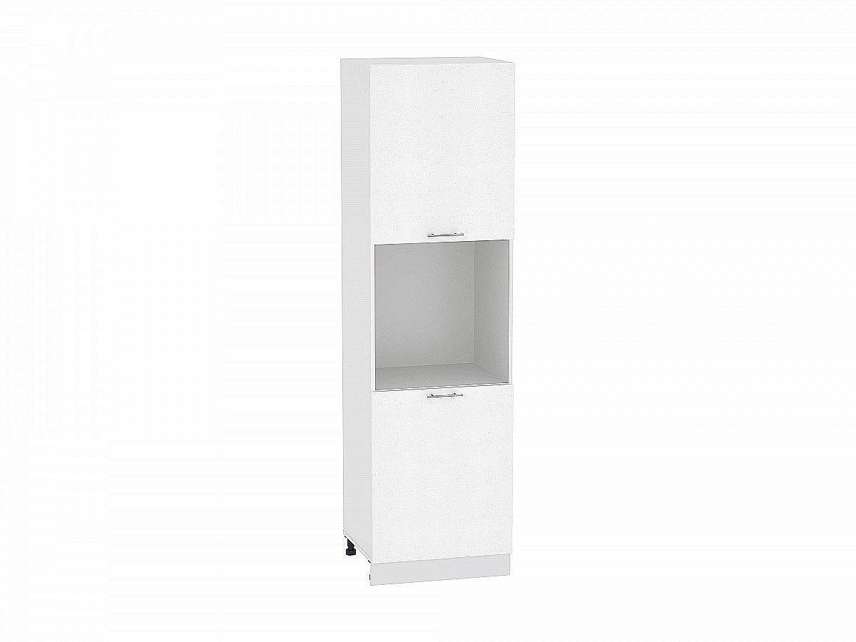 Шкаф пенал с 2-мя дверцами Валерия ШП600Н-Ф47 белый глянец