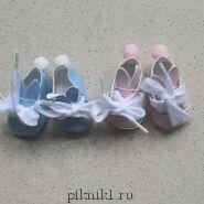 """Обувь для игрушек - """"зайка"""" малышам"""