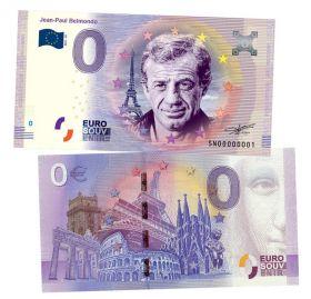 0 ЕВРО - Jean-Paul Belmondo (Жан-Поль Бельмондо). Памятная банкнота