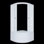 Душевой уголок Triton Стандарт Мозаика Б1 90x90, высокий поддон