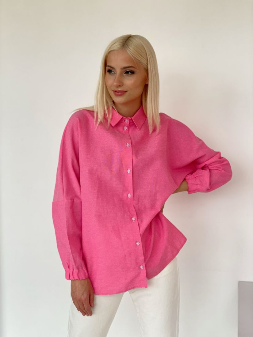 4733 Рубашка из полульна розовая