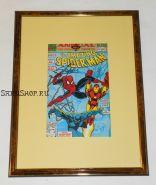 Автографы: Стэн Ли, Эрик Ларсен. На комиксе Человек паук 1991 г. Редкость