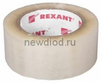 Скотч упаковочный 48 мм х 50 мкм, прозрачный (рулон 150 м) REXANT
