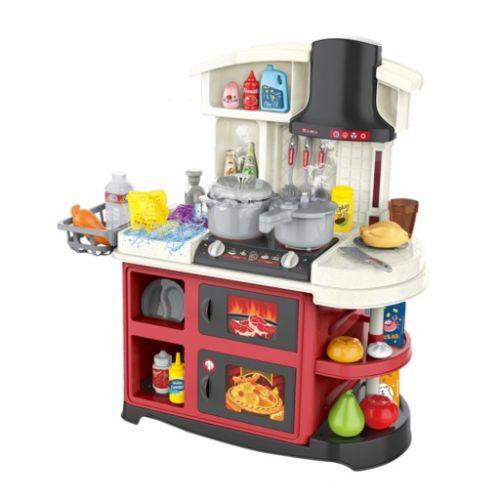 Детская игровая кухня от 3 лет spraying mist kitchen (52 предмета) с водой-паром и световыми эфектами
