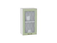Шкаф верхний с 1-ой дверцей Ницца В400 со стеклом в цвете дуб оливковый