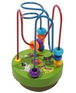 Деревянная игрушка. Лабиринт. Веселые животные 9х9х13 см (арт. ИД-9953)