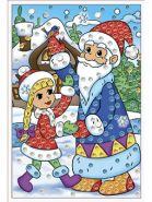 """Мозаика из пайеток """"Дед Мороз и Внучка"""", А4 (арт. М-8655)"""