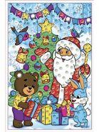 """Мозаика из пайеток """"Дед Мороз и Зверята"""", А4 (арт. М-8656)"""