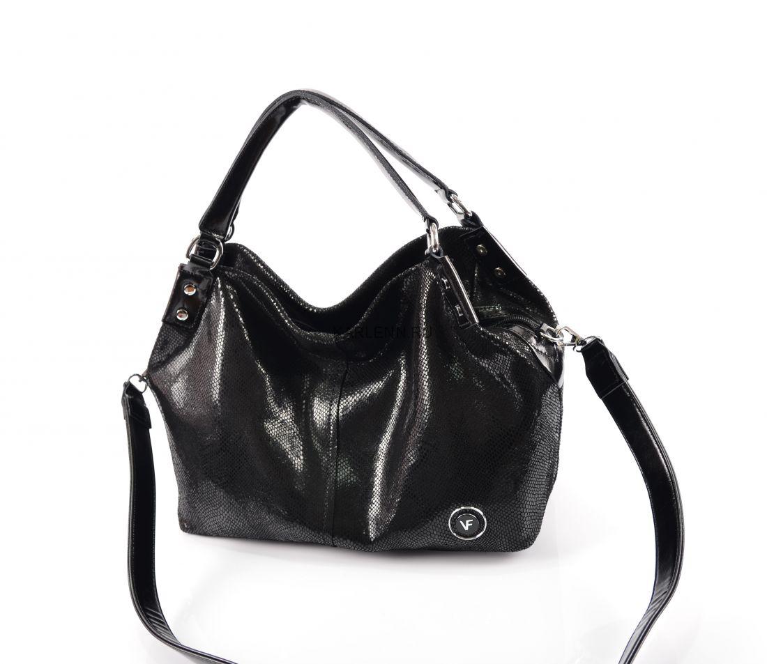 Классическая мягкая сумка Velina Fabbiano (чёрная)