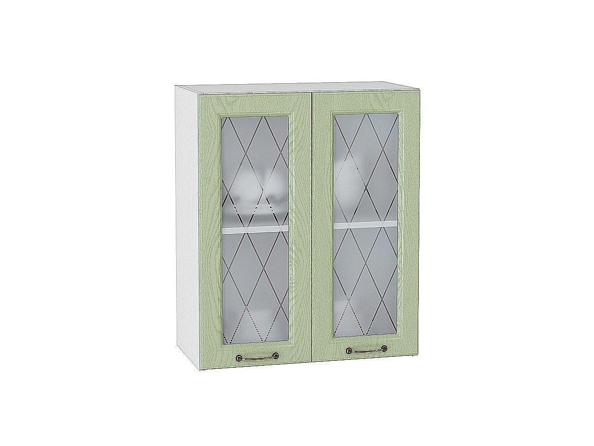 Шкаф верхний Ницца В600 со стеклом (дуб оливковый)