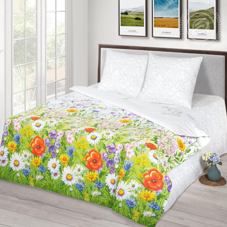 «Родные просторы» (Премиум) постельное белье Бязь 2-х спальный с евро