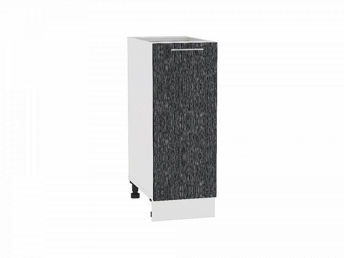 Шкаф нижний Валерия Н300 (чёрный металлик дождь)