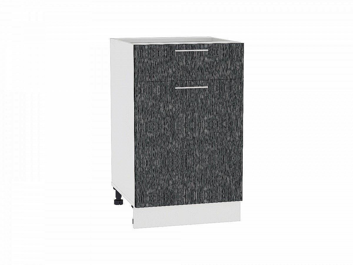 Шкаф нижний Валерия Н501 (чёрный металлик дождь)