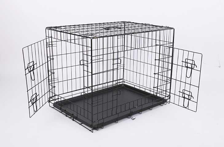 Клетка для собак №6 120х76х81 2 двери пласт.поддон