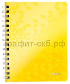 Тетрадь А5 80л.кл.Leitz WOW желтый 46410016