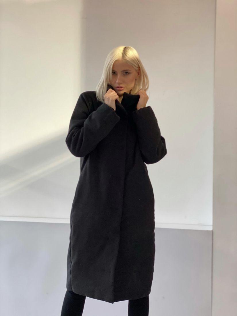 4848 Пальто утеплённое стёганое Premium чёрное