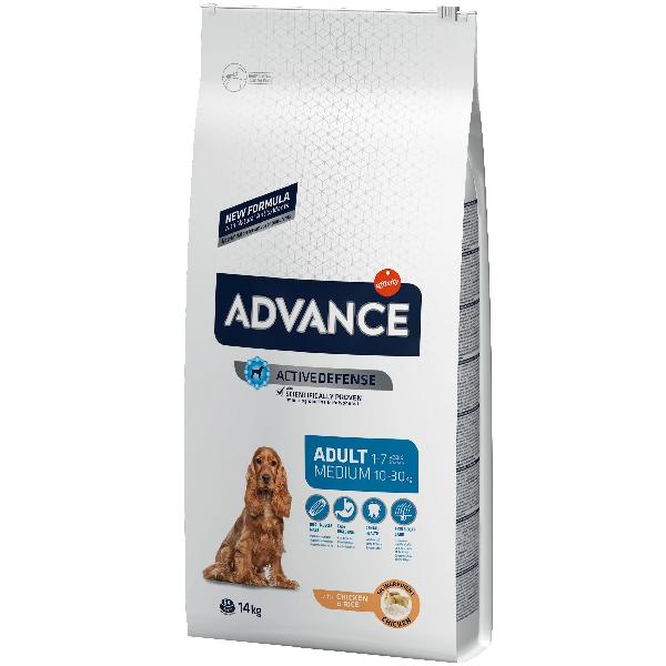 Сухой корм для собак средних пород Advance Medium для ухода за ротовой полостью с курицей и рисом 14 кг