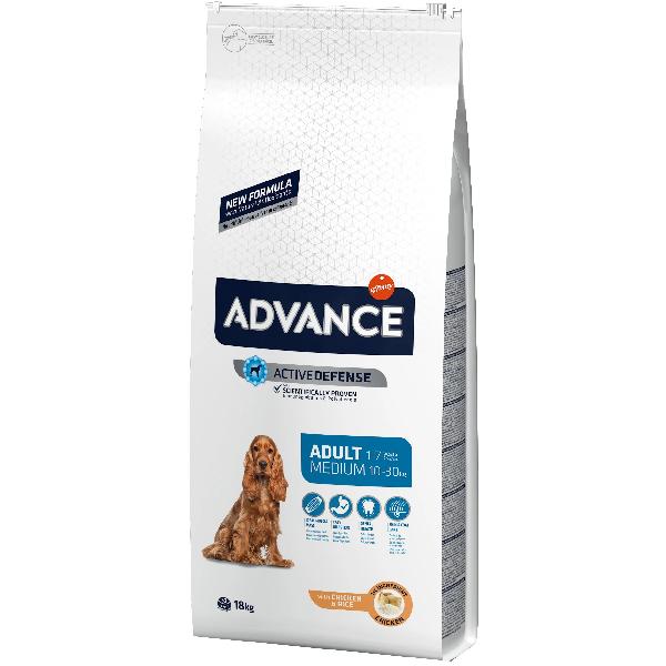 Сухой корм для собак средних пород Advance Medium для ухода за ротовой полостью с курицей и рисом 18 кг