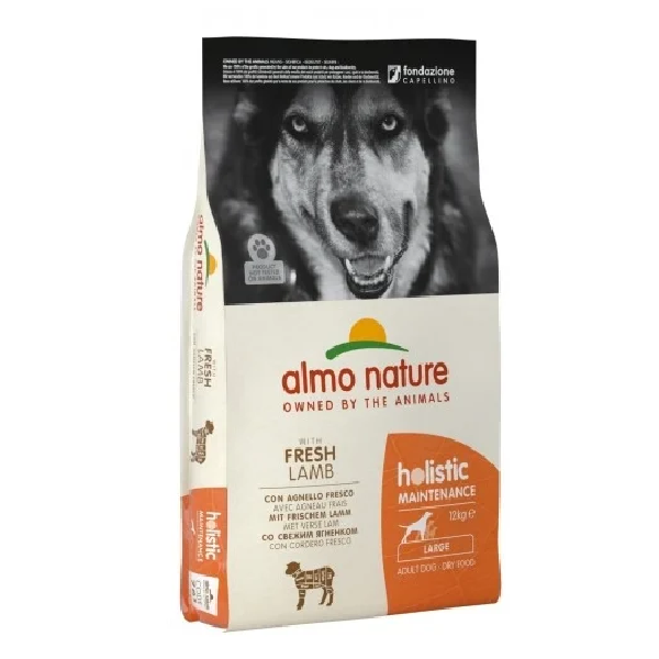 Сухой корм для собак крупных пород Almo Nature Holistic с ягненком 12 кг