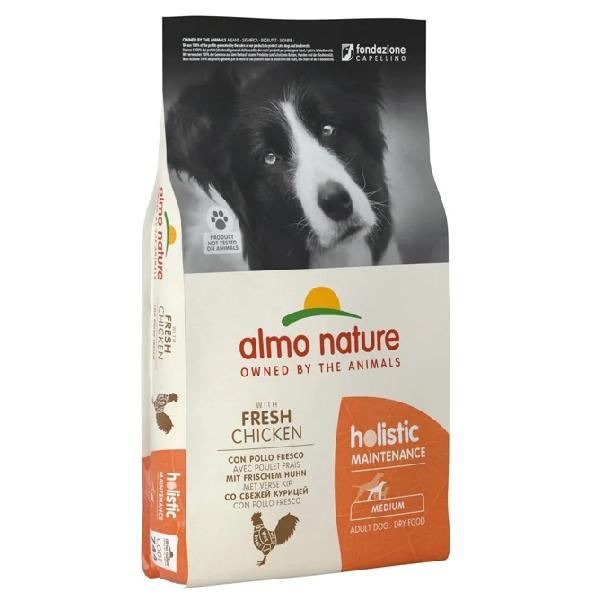 Сухой корм для собак средних пород Almo Nature Holistic с курицей 12 кг