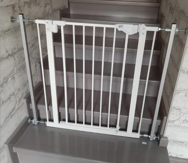 Ворота безопасности 93-100х76 (dg11) перегородка  барьер без сверления стен Baby Safe