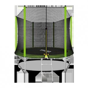 Батут с внешней страховочной сеткой и лестницей Arland 10FT (Light green)