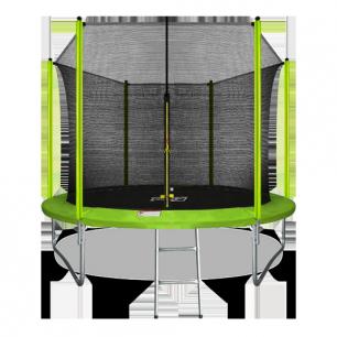 Батут с внутренней страховочной сеткой и лестницей Arland 10FT (Light green)