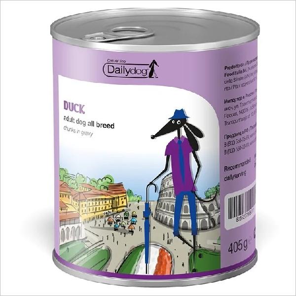 Влажный корм для собак DailyDog Casual Line Duck Chunks с уткой 405 гр