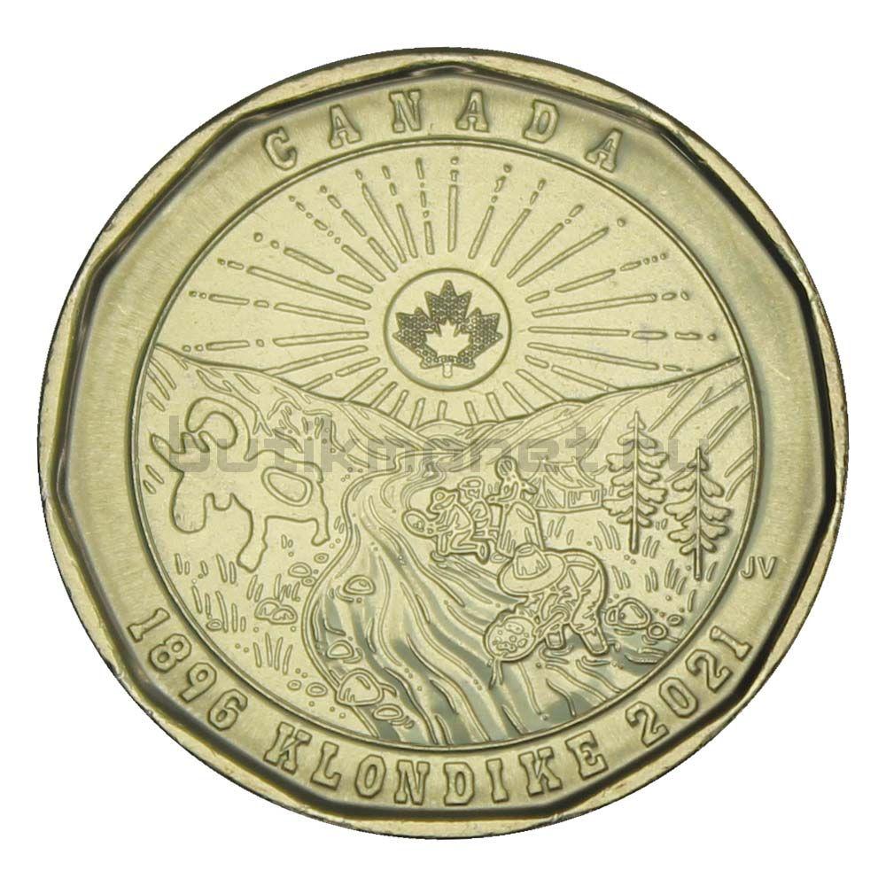 1 доллар 2021 Канада 125 лет клондайкской золотой лихорадке