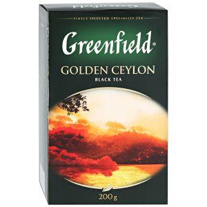 Çay Greenfield Golden Seylon qara iriyarpaqlı, 200 gr