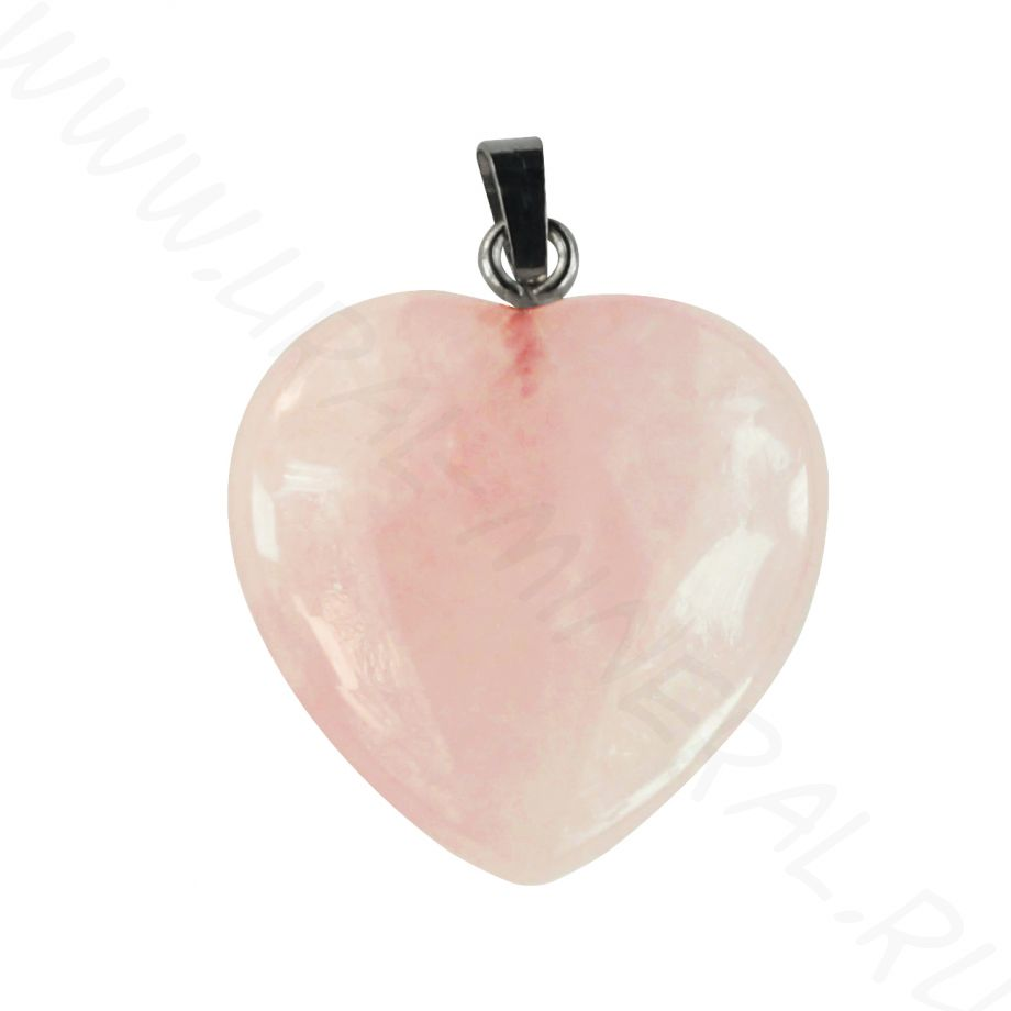 "Талисман ""Сердце большое"" - Кварц розовый"