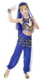 Восточные танцы костюм детский танцевальный синий