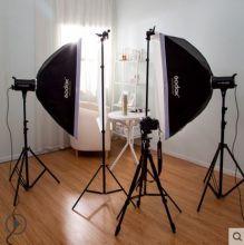 Комплект студийного импульсного света Godox SK400 (2 вспышки)