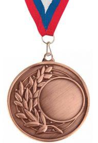 Медаль под шильд бронза 45 мм с лентой