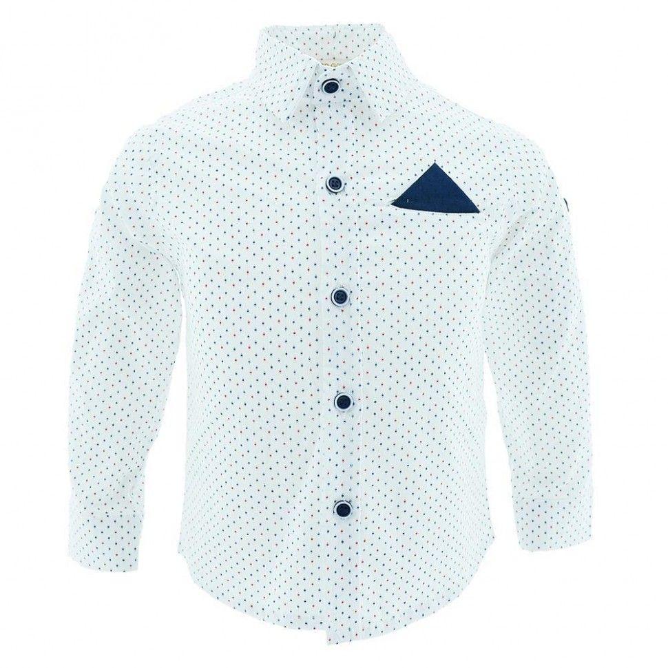 Рубашка с длинным рукавом для мальчика 6-12 (белый)
