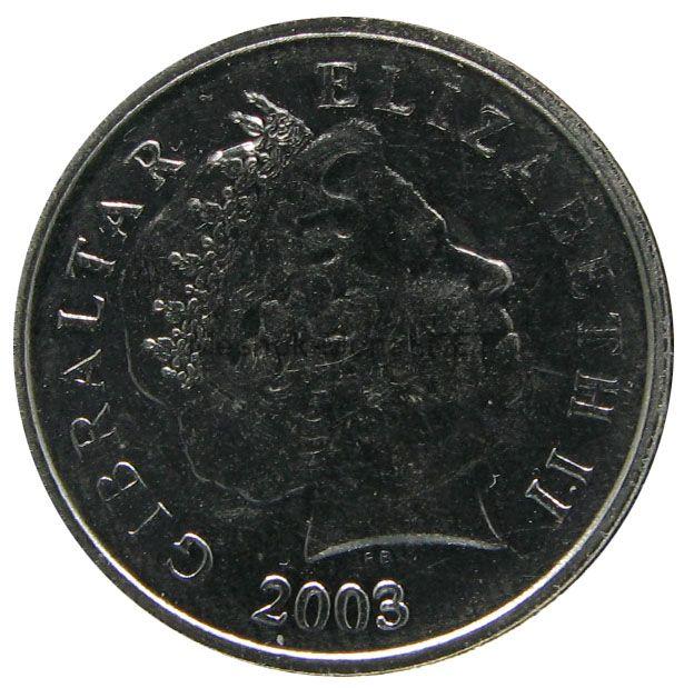Гибралтар 5 пенсов 2003 г.