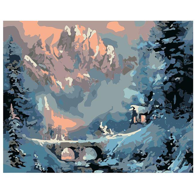 Роспись по холсту Зима 40х50см
