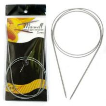 Спицы круговые на тросиках Maxwell Black 80 см арт.#14 2,0мм
