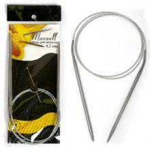 Спицы круговые на тросиках Maxwell Black 80 см арт.#7 4,5мм
