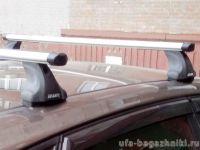 """Багажник на крышу Mazda 5 mpv 2010-..., Атлант, аэродинамические дуги """"Эконом"""""""
